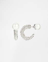 Love Rocks Sparkle Hook Through And Through Stud Earrings Silver