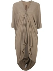 Rick Owens Lilies 'Eska' Tunic Nude And Neutrals