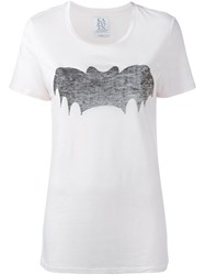 Zoe Karssen Bat Print T Shirt Pink And Purple