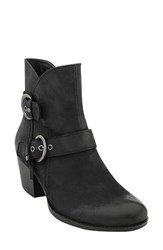 Earthr Women's Earth 'Olive' Moto Boot Black Vintage Leather