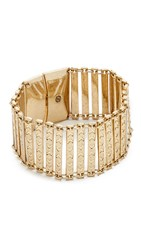 House Of Harlow Iconic Etched Bracelet Antique Gold