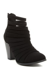 Top Guy Charlotte Strappy Bootie Black