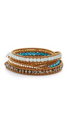 Chan Luu Turquoise Mix Beaded Wrap Bracelet