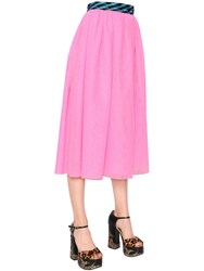 Marc Jacobs Tulle Midi Skirt With Wrap Around Belt