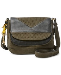 Fossil Piper Double Flap Perforated Crossbody Canteen