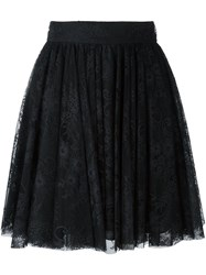 Philosophy Di Lorenzo Serafini Lace Overlay Pleated Skirt Black