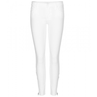 Mother The Looker Zip Fray Skinny Jeans
