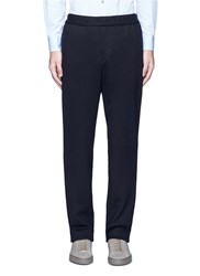 Tomorrowland Drawstring Textured Wool Blend Pants Black