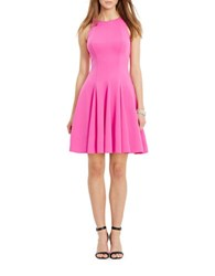 Lauren Ralph Lauren Neoprene Fit And Flare Dress Hot Pink
