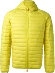 Save The Duck Hooded Puffer Jacket Yellow And Orange