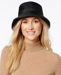 Nine West Quilted Bucket Rain Hat Black