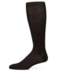 Saks Fifth Avenue Cotton Blend Dress Socks Black Charcoal