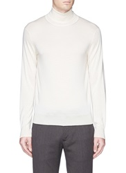 Tomorrowland Cashmere Silk Turtleneck Sweater White