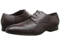 Fitzwell Plain Burgundy Tequila Leather Men's Dress Flat Shoes Brown