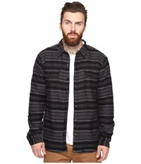 O'neill Withers Sherpa Woven Asphalt Men's Clothing Black