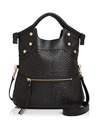 Foley Corinna And Ella Lady Leather Tote Black Gold