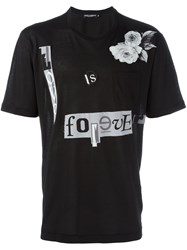 Dolce And Gabbana Love Is Forever Patch T Shirt Black