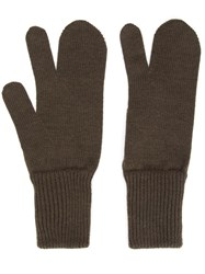 Maison Martin Margiela 'Tabi' Gloves Green