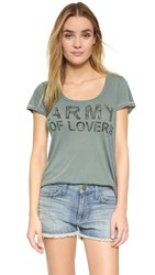 Sundry Army Of Lovers Tee Olive