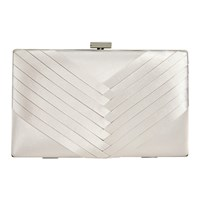 Jacques Vert Pleated Point Clutch Bag Neutral