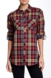 Sandra Ingrish Mixed Plaid Shirt Red