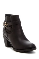Top Guy Place 2 Low Heel Bootie Black