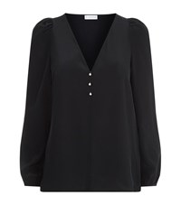 Claudie Pierlot Bertille Frill Sleeve Blouse Female Black