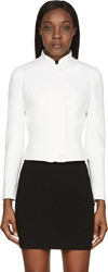 Alexander Mcqueen Ivory High Collar Structured Jacket