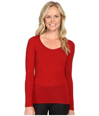 Icebreaker Siren Long Sleeve Sweetheart Oxblood Oxblood Women's Clothing Tan