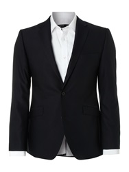 Kenneth Cole Patterson Wool Stretch Suit Jacket Navy