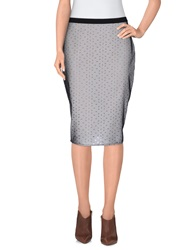 Siste's Siste' S Knee Length Skirts Light Grey