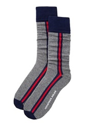 Jonathan Adler Zip Stripe Sock Gray