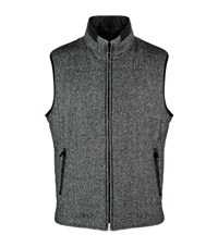 Corneliani Reversible Wool And Suede Gilet Male Dark Grey