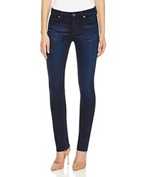 7 For All Mankind Modern Straight Jeans In Pristine Blue Black Compare At 189