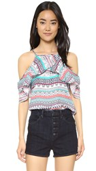 Ella Moss Oceana Cold Shoulder Blouse Desert