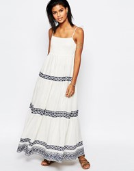 Tularosa Blayke Maxi Dress With Embroidery White