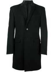 Versace Collection Single Breasted Coat Black