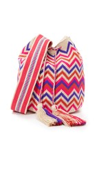Guanabana Large Bucket Bag Blue Pink Orange