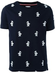 Moncler Gamme Bleu 'Bird' Embroidery T Shirt Blue