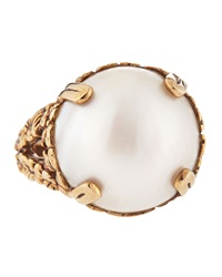 Stephen Dweck 18Mm Round Mabe Pearl Ring