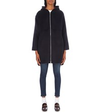 Claudie Pierlot Garcon Wool Blend Coat Marine