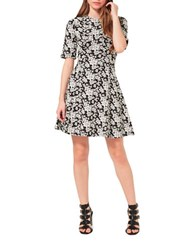 Miss Selfridge Floral Jacquard Skater Dress Multi