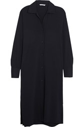 Helmut Lang Stretch Crepe Tunic Blue