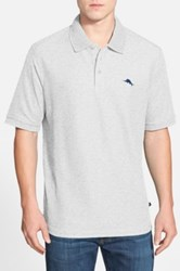 Tommy Bahama Relax The Emfielder Pique Polo Big And Tall Gray