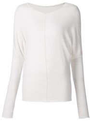 Kristensen Du Nord V Neck Sweater White
