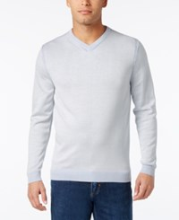 Tommy Bahama Men's V Neck Ribbed Trim Sweater Peri Delight