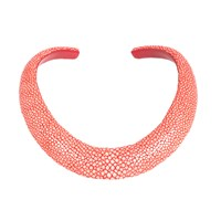 Latelita London Stingray Sculptural Necklace Chilli Red