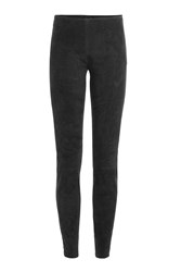 Jitrois Suede Leggings With Ankle Zips Grey