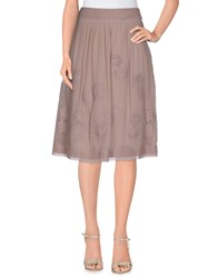 Cacharel Skirts Knee Length Skirts Women Light Brown