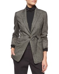 Brunello Cucinelli Tweed Blazer With Monili Cuffs Women's Volcano